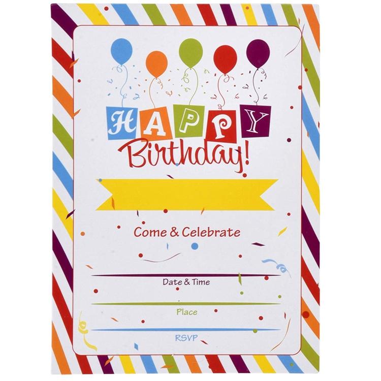بطاقة دعوة عيد ميلاد فارغة للاطفال Bitaqa Blog