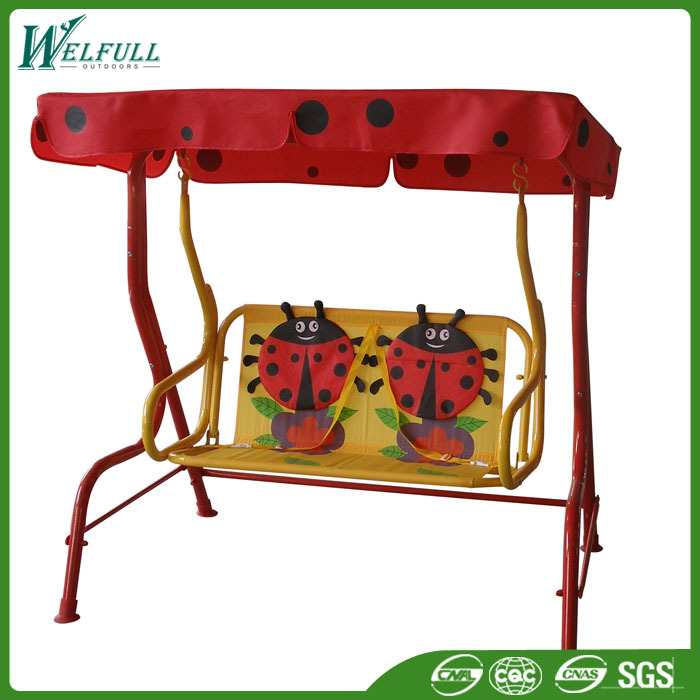 Good Price Two Seat Garden Iron Children Swing For Outdoor