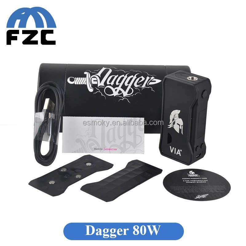 FZC Tech Factory Price New Version Dagger Mod 80w Temperature control Box Mod can Fit on combo rdta/Nalu RDA/OBS ENGINE RTA