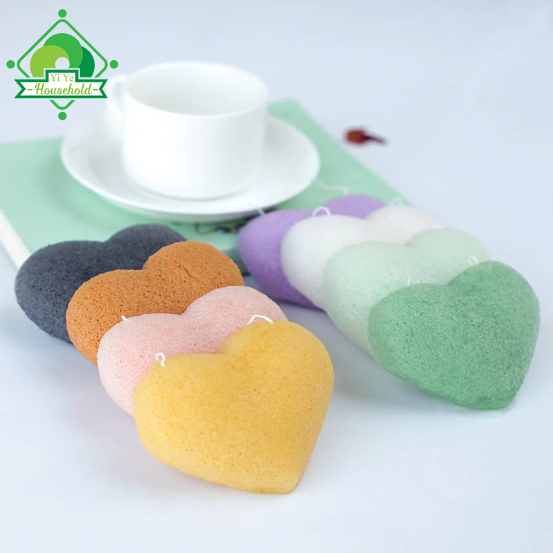 Heart Shaped Konjac Sponge, Ideal For Sensitive Skin Konjac Sponge Organic, Deep Pore Cleansing Konjac Sponge Wholesale