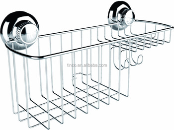 No Drilling Suction Cup Shower Caddy