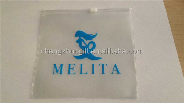 Cheap frosted Plastic PVC Packaging Bag with zipper for swimwear