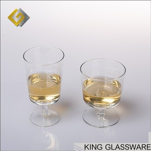 Handmade custom OEM wholesale airlines glass dessert pudding milk cup