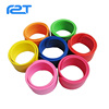 Silicone slap wristband color filled rubber kids rubber wristband