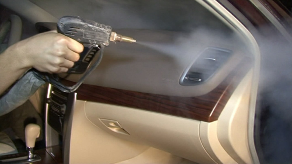 stoom auto wasmachine voor auto interieurbinnenkant stoom reinigen steriliseren en slechte geur killing
