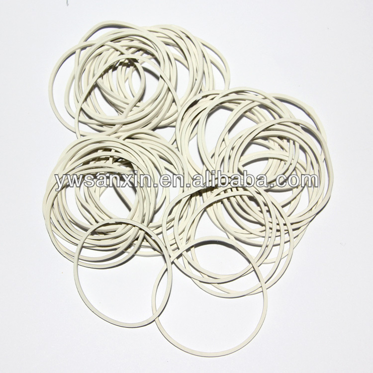 38mm white natural rubber band thailand