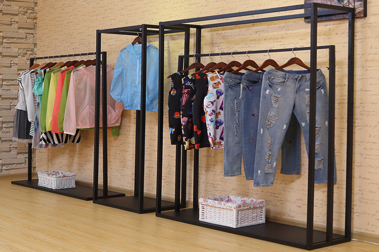 Gondola Wall Clothes Cabinets Hanging Storage Garment Shelves