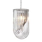 elegent design fancy indian hand blown clear glass hanging lamp for home