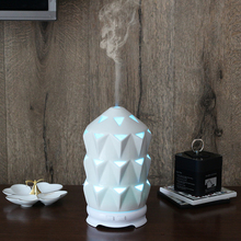 New products 2018 natural flower ceramic oil diffuser