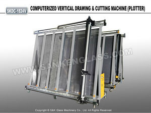 Automatic Vertical Cutting Plotter Glass Drawing Machine