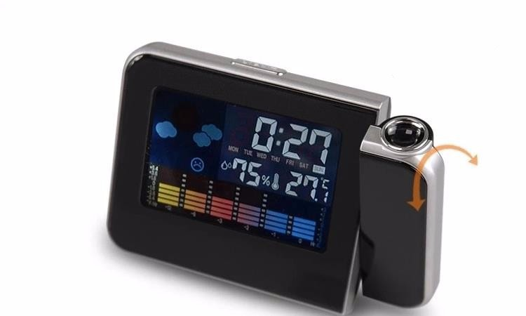 Modern Style Square Shape Projection Electronic Clock Fashion Digital LCD Alarm Clocks