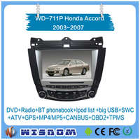 Factory wholesales car stereo for Honda Accord 7 2003 2004 2005 2006 2007 with gps navigation tracking system dvd player audio