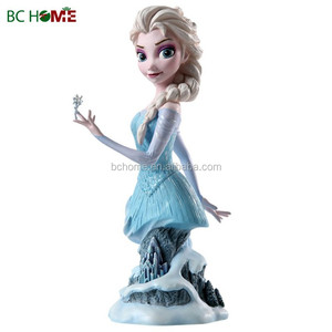 Elsa reigning snow queen frozen resin lifesize figurine