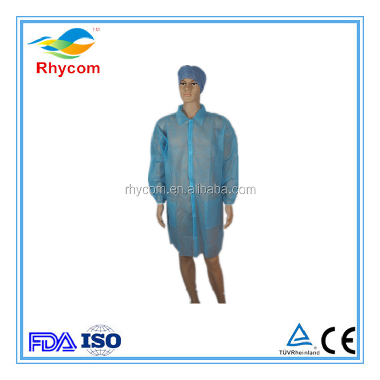 cheap disposable non-woven white adults/kids lab coats