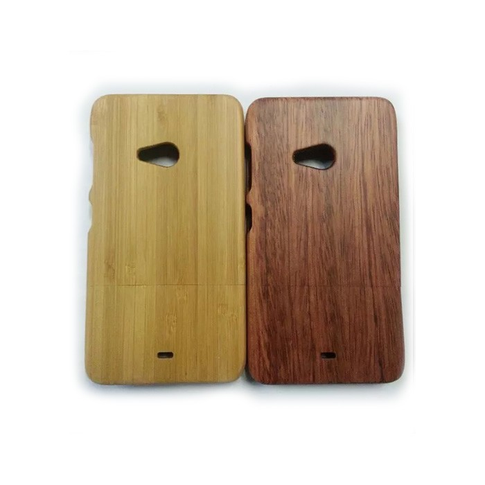 High Quality For Nokia Lumia 535 Wood Bamboo Hard Back Cover Case ...