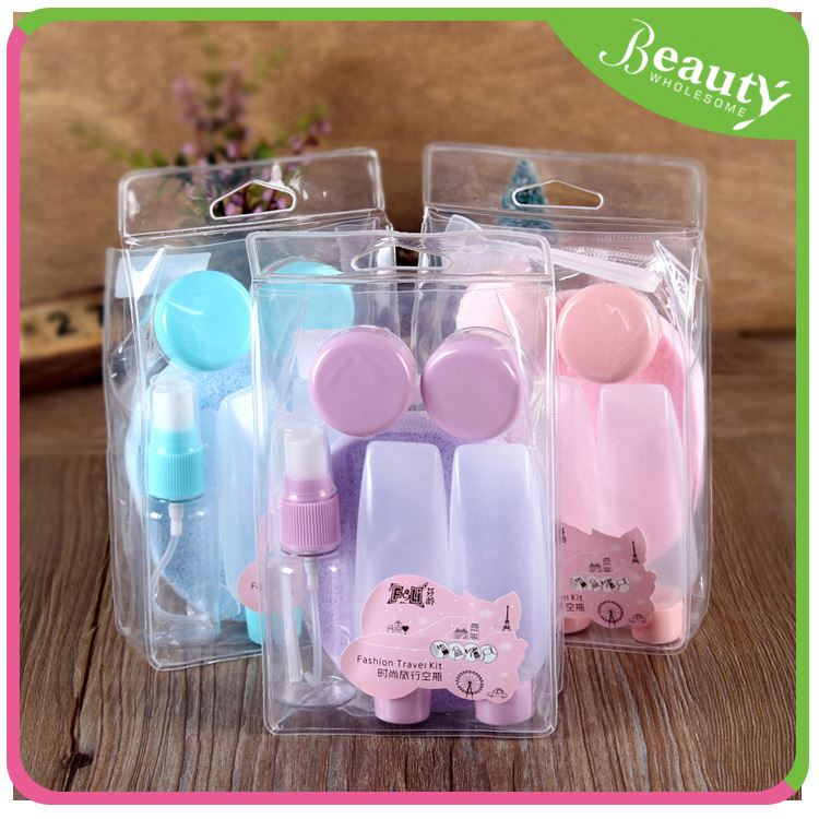 plastic kitchen cup ,H0T014 75ml cosmetic plastic pet bottle travel set