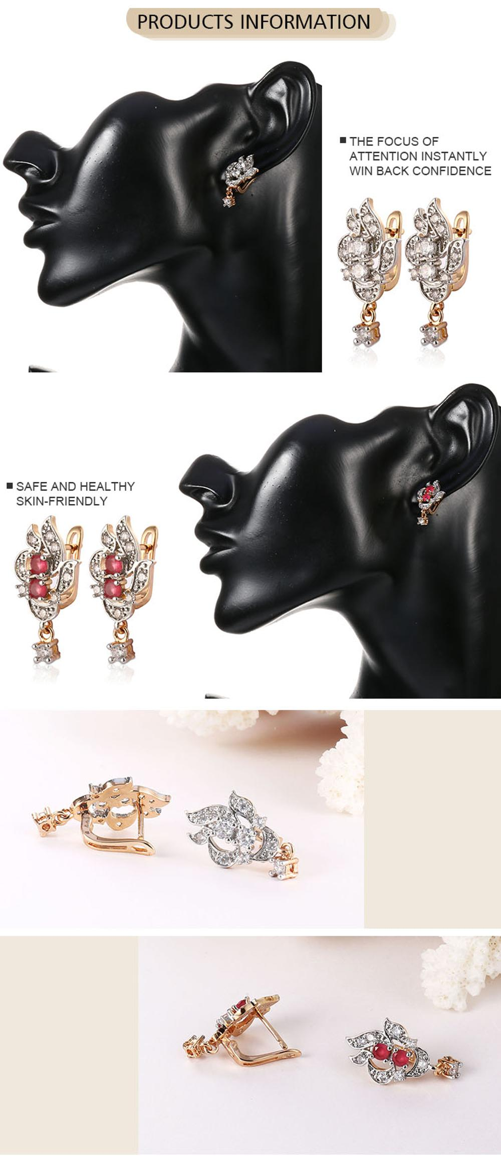 Ear Ring Models Cubic Zirconia Stone Fashion Wedding Ear Rings For Women