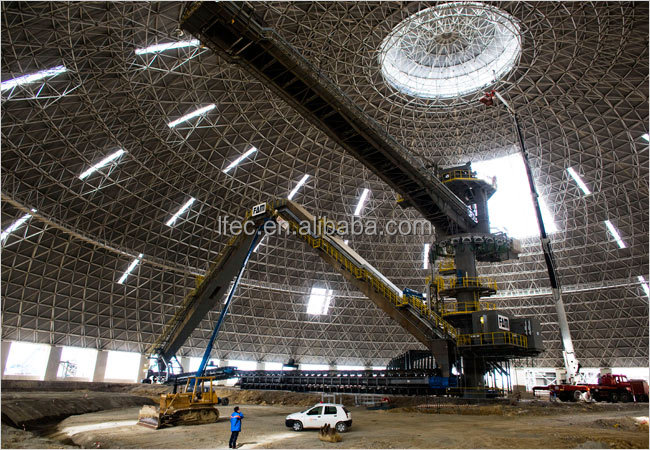 Long Span Light Type Dome Shed Curved Roof Structures