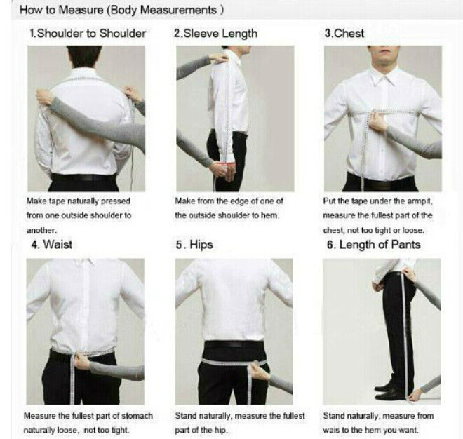 How are men's suit jackets measured