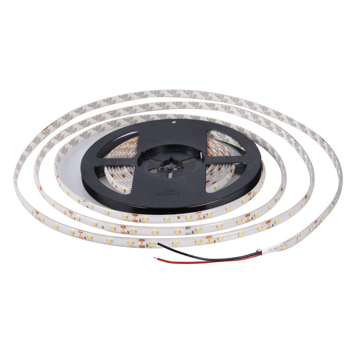 XKTTSUEERCRR Waterproof Cool White LED Strip 3528 SMD 300LED 5M Flexible Lamp Light 12V 2A 60LED/M