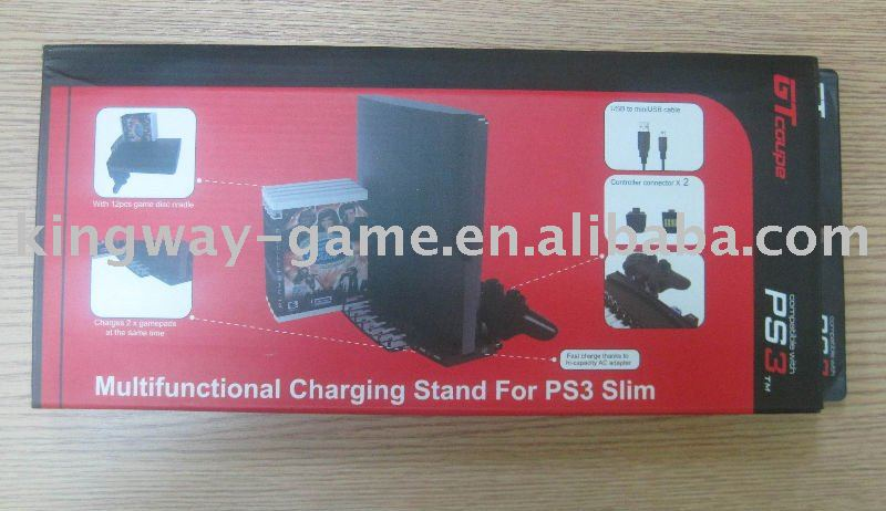 Multifunctional charging stand for PS3