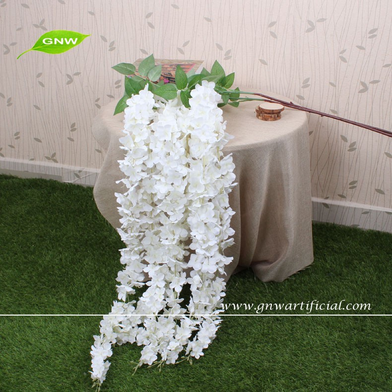 Gnw White Wall Hanging Artificial Flowers Long Stem Flower Making