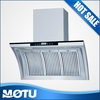 Aluminum filter side wall mounted ultra-thin range hood with button screen