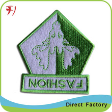 Custom embroidery kids self adhesive fabric patches for clothing