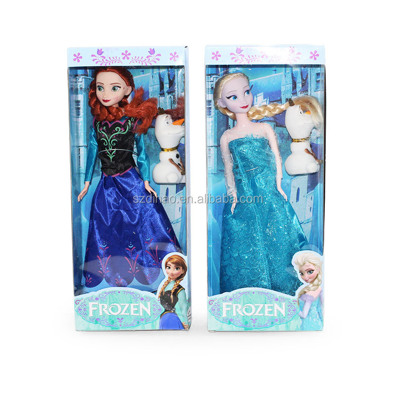 DIHAO Dolls Frozen Hot selling disny frozen toys wholesale frozen doll elsa and anna 11 inch including
