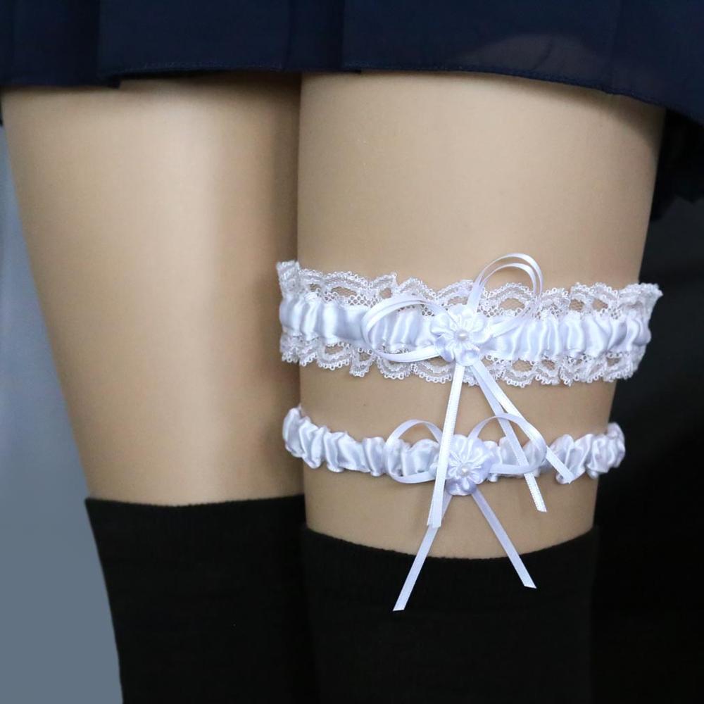 feabe95f0 Sexy Encaje De Cinta Bowknot Cinturón Elástico Piernas Bucle Liga De Novia  Cinturón - Buy Liga Del Cordón Del Sexo