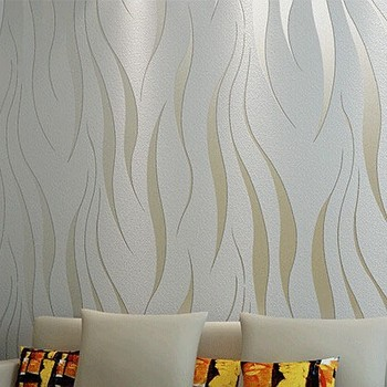 3D Abstract Silver Striped Modern Wallpaper
