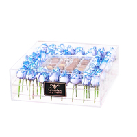 M&E Luxury Clear Square Acrylic Flower Box for Rose and Chocolate