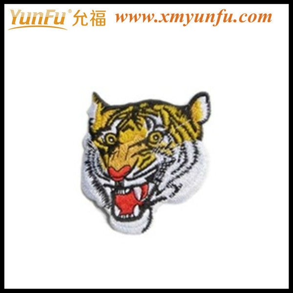 Wholesale cheap emboridery tiger head patch