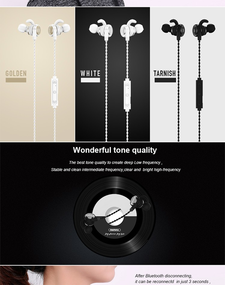 Remax RB-S10 magnetic earphone bluetooth