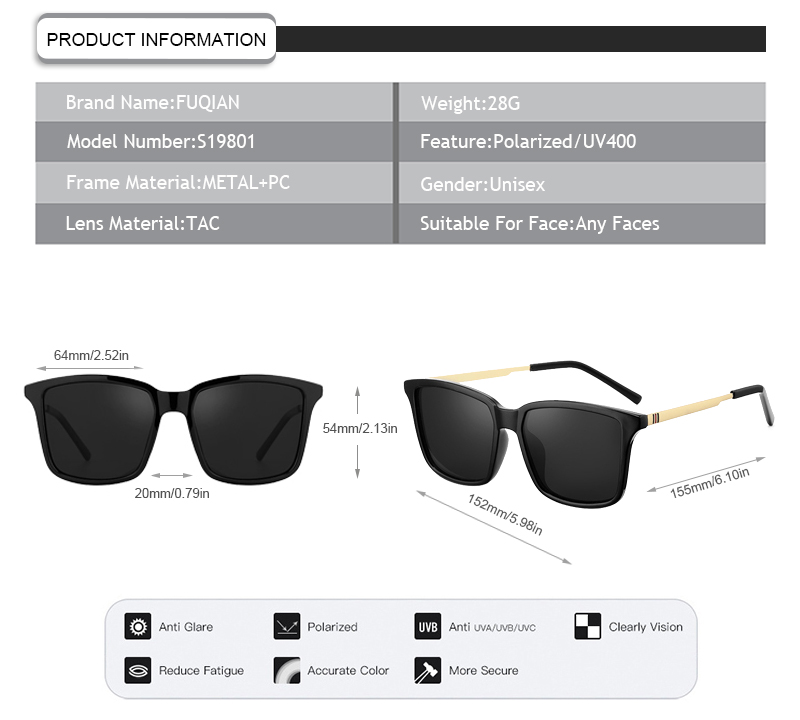 Fuqian stylish boating sunglasses company for women-9