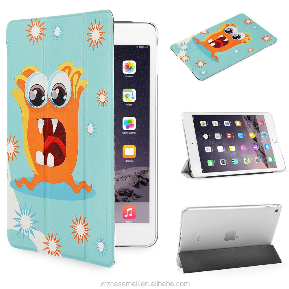 Naughty Monster design Case for Apple iPad mini 4 With Magnetic Auto Wake & Sleep Function