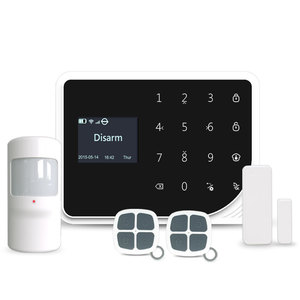 Wireless house security WIFI GSM SMS alarm system with camera intelligent home burglar security alarm system