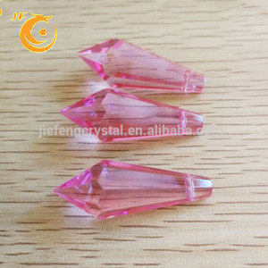 Elegant custom modern natural quartz crystal necklace point chandeliers pendant light icicle drop crystal pendant parts