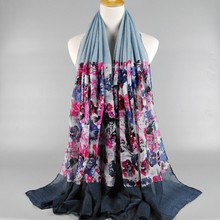 Women Scarf New Design Floral Printed Scarfs Viscose180*90 Scarves Female Pashmina Shawl Wraps
