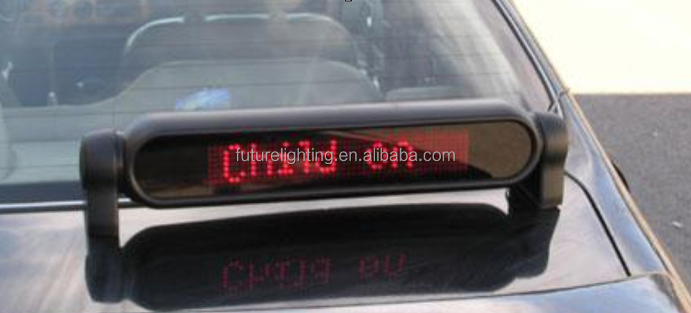 Indoor 7x50dots Car Rear Window Led Scrolling Messages