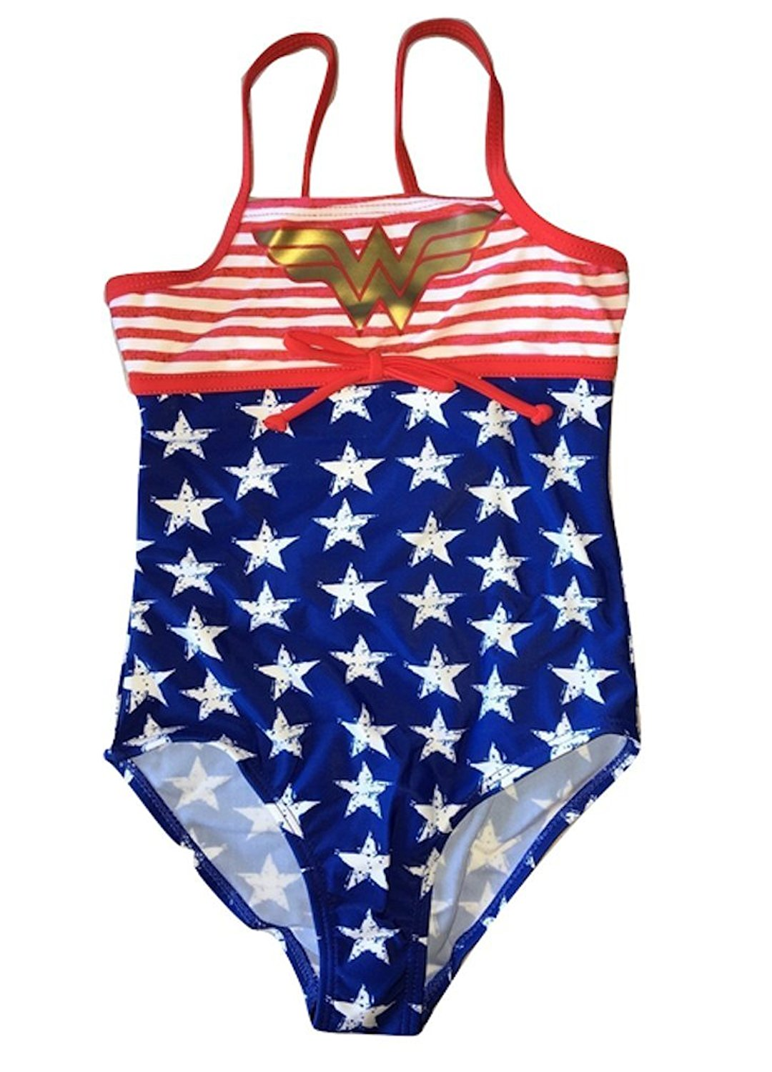 69b2741de9e93 Get Quotations · In Gear Girls Wonder Woman Sport One Piece Swimsuit Stars  and Stripes in sizes 4-