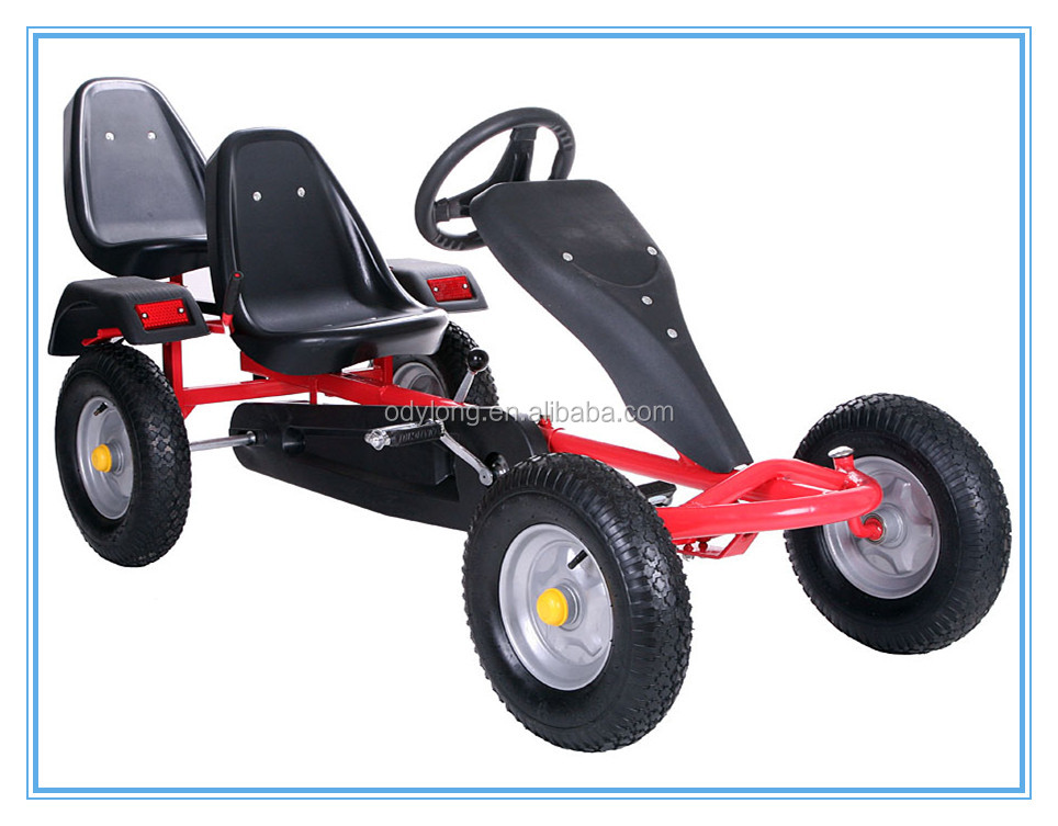 (F160AB)The newly designed two seats pedal go kart