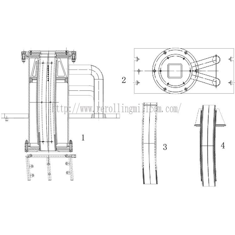 ทองแดงหลอดแม่พิมพ์สำหรับเครื่องหล่ออย่างต่อเนื่อง/แม่พิมพ์ตกผลึกสำหรับCCMในเหล็กอุตสาหกรรม/ท่อแม่พิมพ์