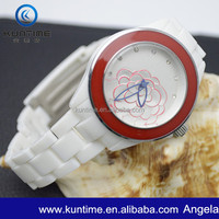 Plastic China Movt Watch With Polished Plastic Band
