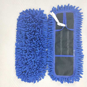 China microfiber dust mop for house cleaning products looped end flat mop head with bandages