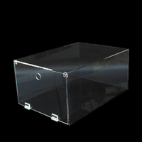 Top Grade Showcase Clear Acrylic Shoe Box Drop Front Shoe Box Acrylic for Acrylic Shoe Box Wholesale