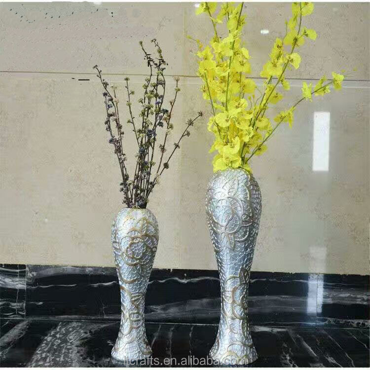 wholesale single flower vase for home decoration resin floor tall flower vase