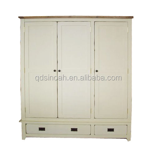 Pine antique distressed lady wardrobe
