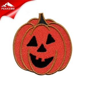 All Saints' Day cheap pumpkin motif embroidery patches