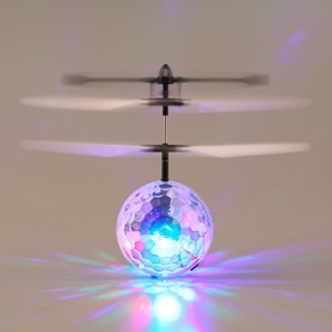 2017 New Arrival Infrared Induction Flying Flash Disco Colorful LED Ball Helicopter Child Toy Newest